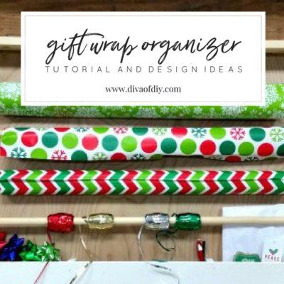 How to Make a DIY Easy Gift Wrap Organizer