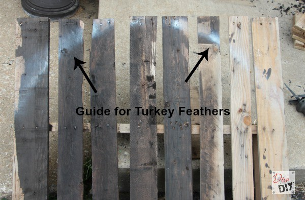 DIY Thanksgiving decorations are not just for inside. Let this Tom Turkey Pallet Project greet your Thanksgiving guests with your own personal style!