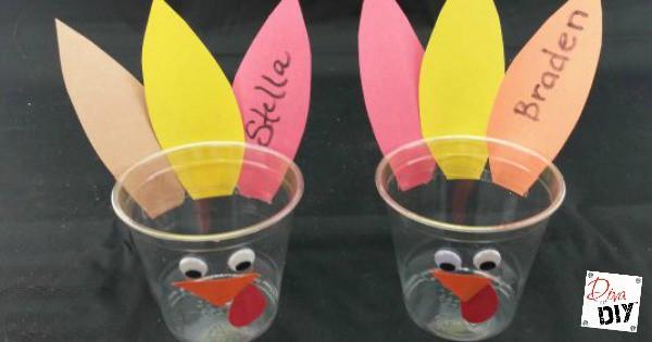 Thanksgiving Kids Table Turkey Cups Kids Craft