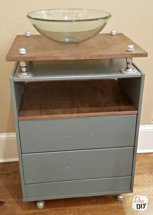 I love furniture vanities but they can be expensive so when i was asked to submit an IKEA rast dresser hack idea I thought why not make a furniture vanity!