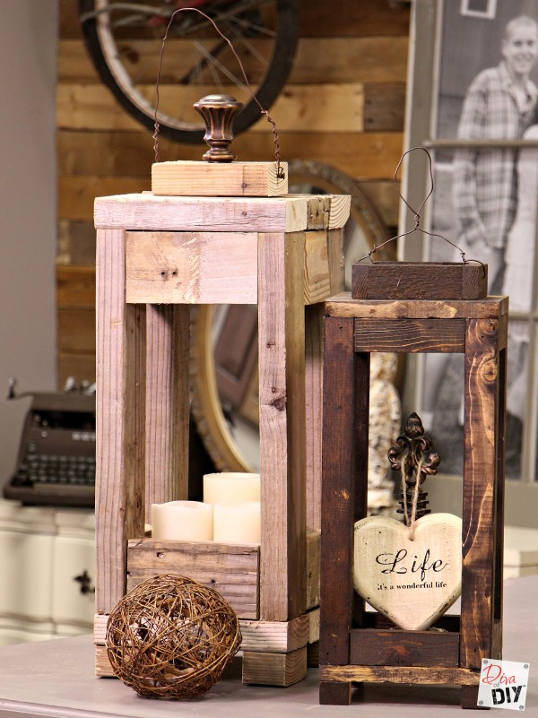 Easy Outdoor Decor How To Make Lanterns From S Wood