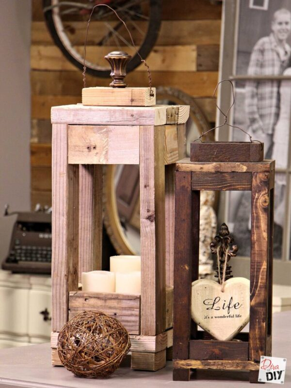 Easy Outdoor Decor: How to Make Lanterns from Scrap Wood