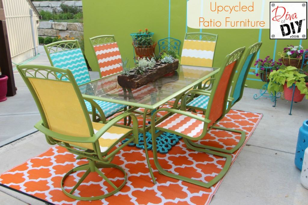 Upcycled-Patio-Furniture-Final-1024x683 | Diva of DIY
