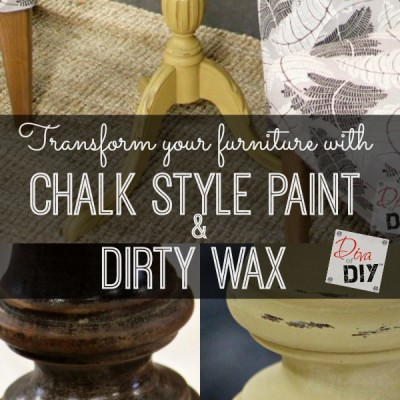 How to Update a Table with a little Paint and Wax