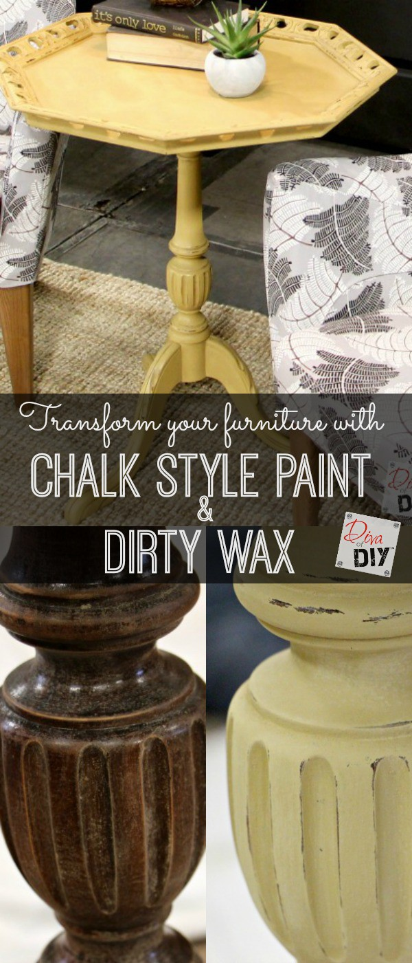 Makeover end table with chalk paint and wax