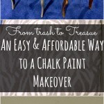 Do you like the look of chalk paint but hate the cost? Let me show you how to do an affordable chalk paint makeover as seen on Restaurant Impossible!