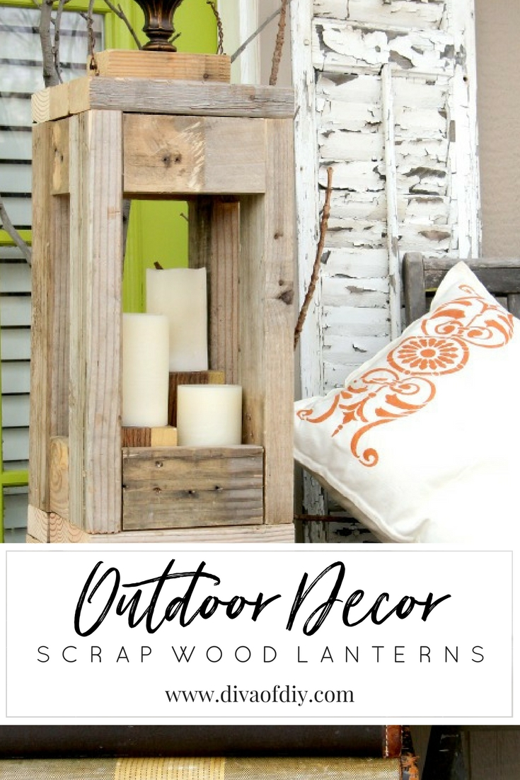 Easy Outdoor Decor How To Make Lanterns From Scrap Wood Diva Of Diy