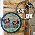 Looking for a new way to display photos, memos or notes? Ready for that next item you just have to look for on your next thrift store outing? Bicycle Tires!