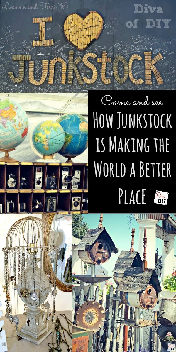 junkstock vintage market pin