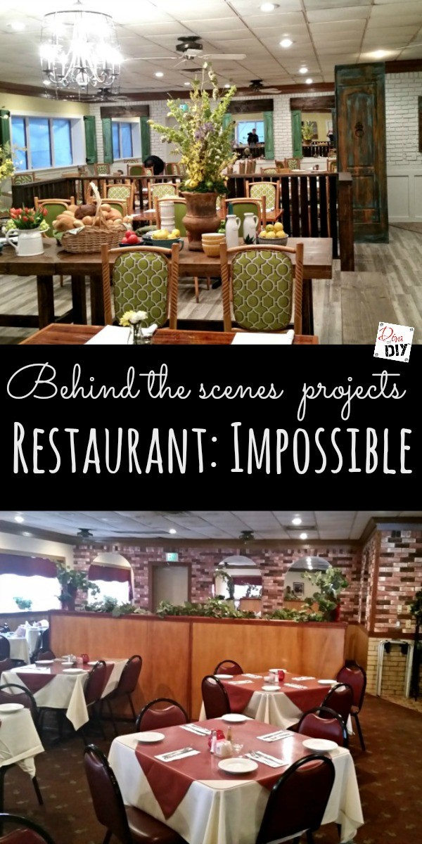 Designs for Restaurant: Impossible have be quick, easy and cheap DIY projects that look expensive. See the behind the scenes of the projects here!