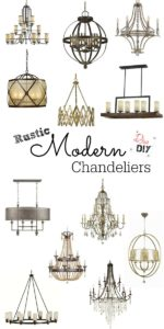 A Rustic Modern Lighting design consists of clean lines, a comfy feel and a little glam. Check out my to 20 picks for rustic modern chandeliers.