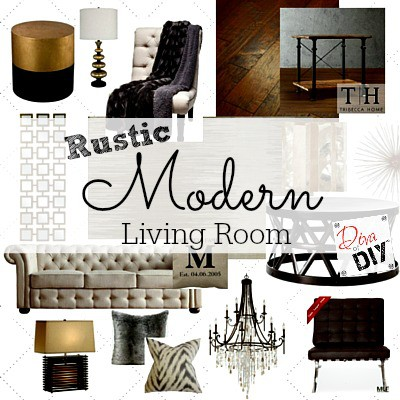 Rustic Modern Living Room Design