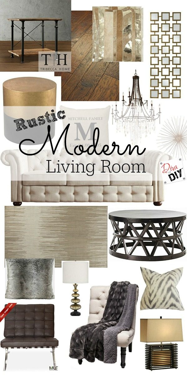 Clean Lines Combined With Rustic Charm Describes My Modern Living Room Yes You Can