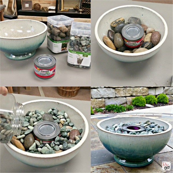 Table Top Fire Pit Bowl Just Rocks Tutorial Diva Of Diy