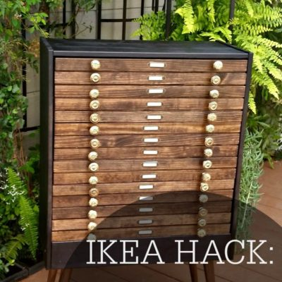IKEA Hack Map Dresser: As Seen On Hallmark's Home and Family