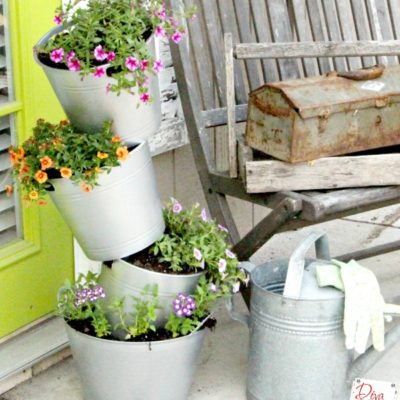 How to Make an Easy Faux Galvanized Flower Pot on the Cheap