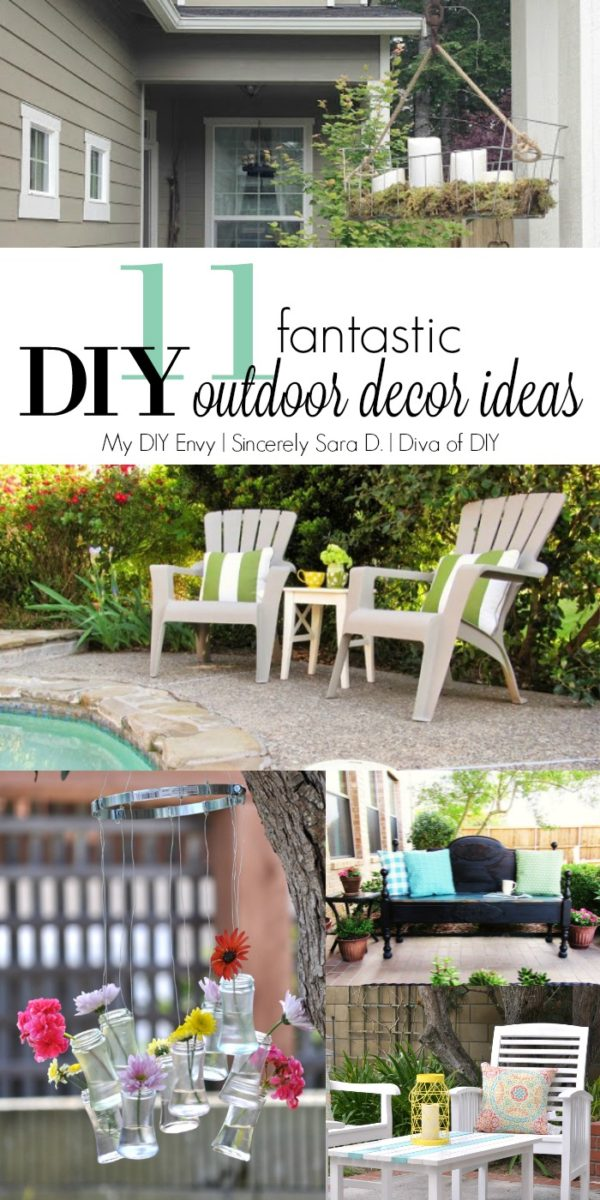 11 diy outdoor decor ideas from Talk DIY to Me at Divaofdiy.com