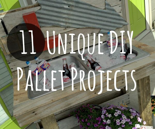11 pallet projects in one place! From coffee tables to mail organizers we've got you covered. Check out my favorite projects and 6 of my favorite bloggers! DIY your own easy pallet project today!