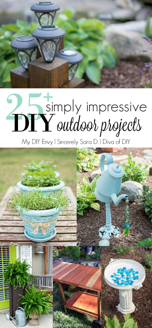 Talk DIY to Me #5 Featuring over 25 DIY Outdoor Projects! Come check out the easy outdoor DIY projects that have been shared over the past 4 weeks!