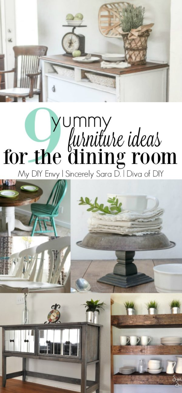 9 Yummy Furniture Ideas for the Dining Room. Try a table makeover or one of these amazing storage solutions!