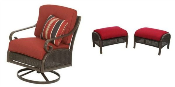 chair and ottoman.Making the perfect retreat starts with selecting the perfect low maintenance products! See the inspiration board for an amazing master bedroom deck retreat!