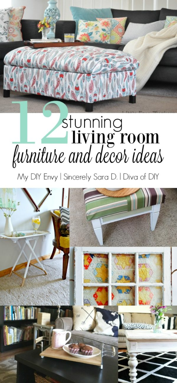 Talk DIY to Me #8 featuring 12+ living room project decor ideas to turn your living room into a showroom without breaking the bank! Quick and Easy project tutorials!