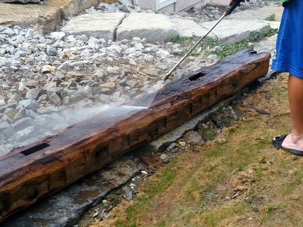 You know I love all things rescued and re-used right? Well how about mantel made from a 100 year old barn beam? Step by step instructions included.