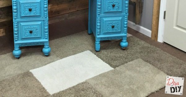 Cheap and Easy carpet remnant area rug. Great for kids room and dorm rooms where you want inexpensive carpets that you can easily replace!