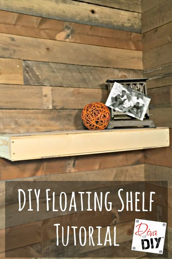 Make this floating shelf with this diy shelf tutorial. Floating shelves look magic hanging on the wall but with this tutorial you'll see it's an easy DIY!