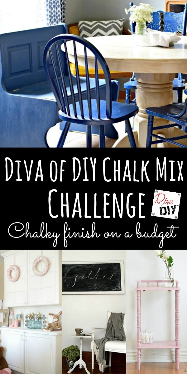 Check out these great DIY painting ideas using Diva of DIY Chalk Mix for painting furniture with a chalky finish that doesn't cost more then the furniture!