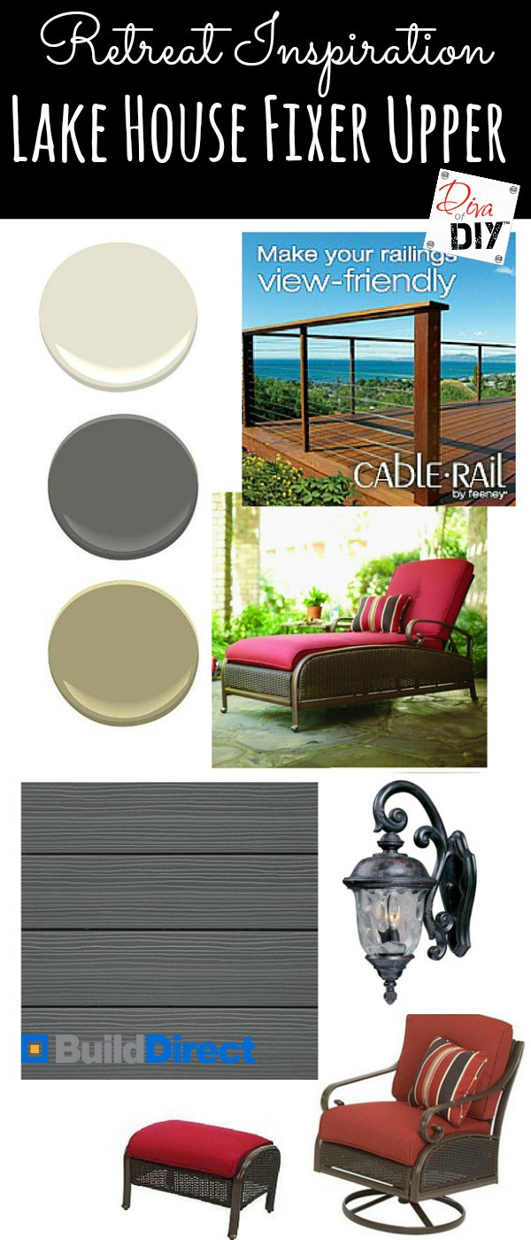 Making the perfect retreat starts with selecting the perfect low maintenance products! See the inspiration board for an amazing master bedroom deck retreat!