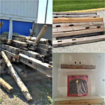 How To Build A Mantel Out Of An Old Barn Beam