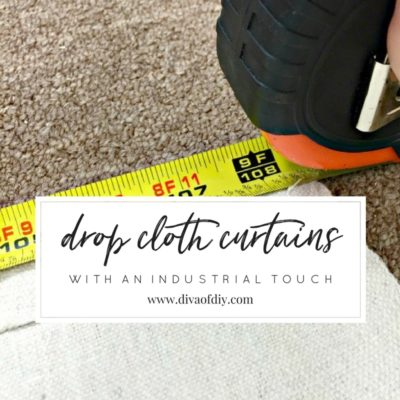 How To Make DIY Curtains Out Of Drop Cloths