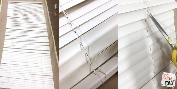 Who Says A Fabric Window Treatment Has To Be Expensive Make These Mini Blinds Into