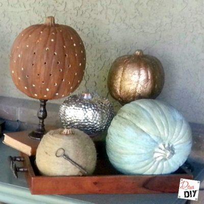 Dollar Store Pumpkin: How to Make it Fabulously Metallic
