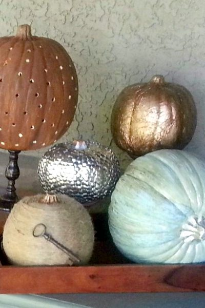 Dollar Store Pumpkin: How to Make it Fabulously Metallic