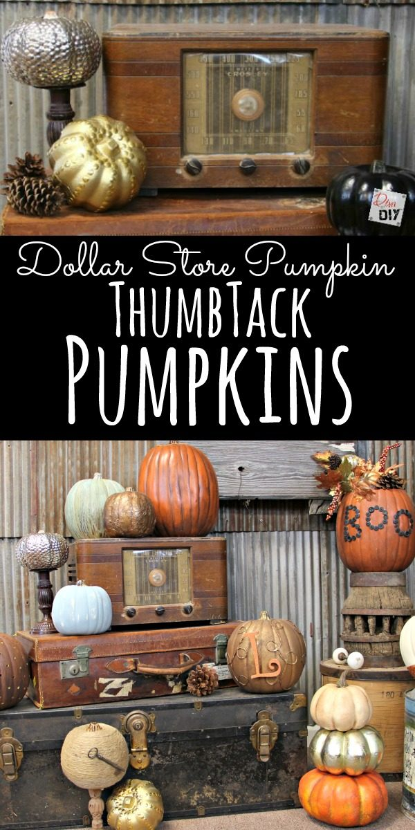 Dollar Store crafts are all the rage! This Dollar Store Pumpkin is perfect for you Halloween and Fall decorations! A great way to add metallic to your decor