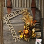 Make a Fun Fall Wreath from a Wooden Frame