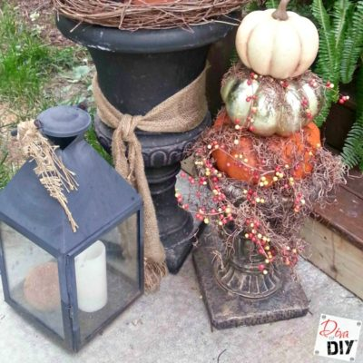 How to Make a Unique Pumpkin Topiary