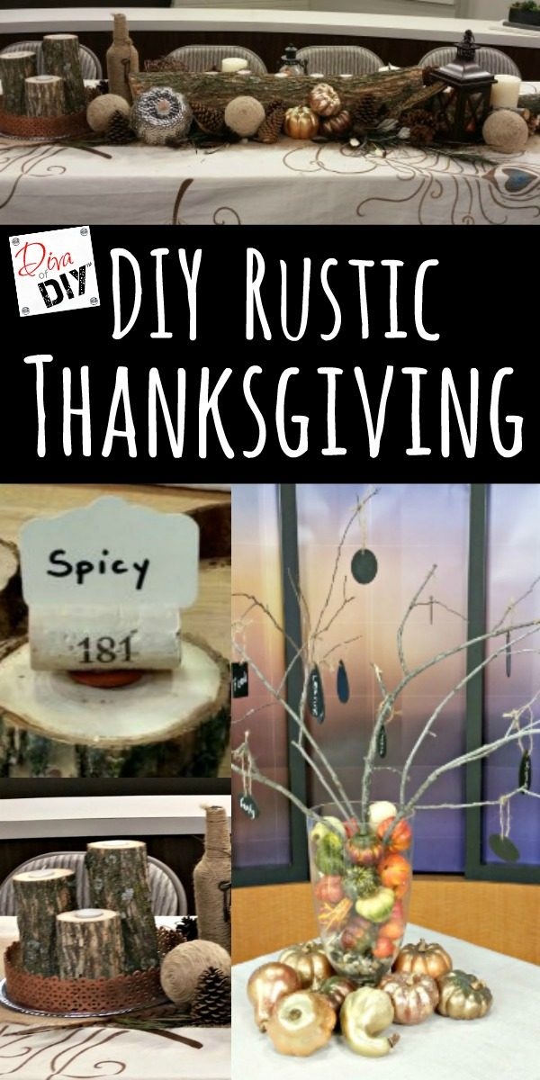 These DIY rustic Thanksgiving table decorations will amaze your guests while being budget friendly! Even a couple Thanksgiving decorations for kids Table!