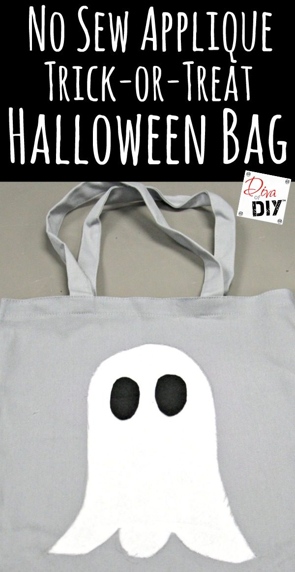 2 DIY Trick or Treat Bags for kids to decorate! Make your own bag from a pillow case or decorate bag with a no sew appliqué. Homemade treat bags w/o sewing!