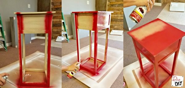 How to Paint Furniture? There are lots of ways but one of my favorites is spray painting! Spray painting furniture is a quick and easy diy project. Pro tips