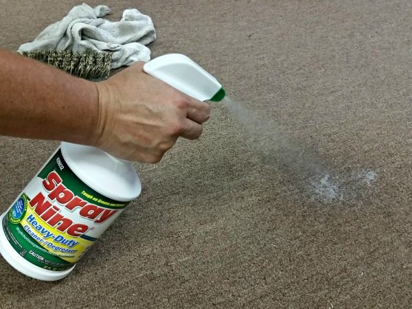 Cleaning tip! How to remove carpet stains the easy way! If it will work on my work shop carpet, it will work for you! I am so excited to find this product!