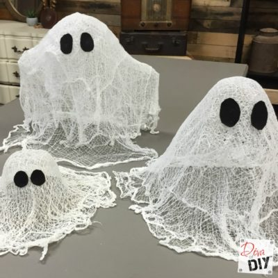 How to Make a Classic Halloween Cheesecloth Ghosts