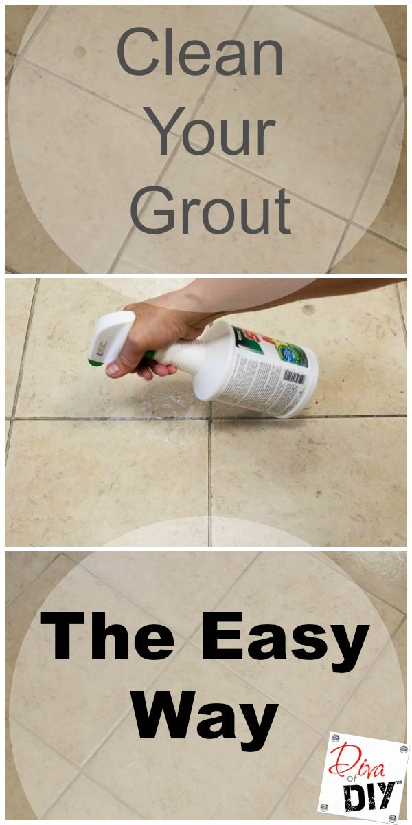 Cleaning tip! How to remove grout stains the easy way! If it will work on my workshop type floor, it will work for you! I'm so excited to find this product! #ad