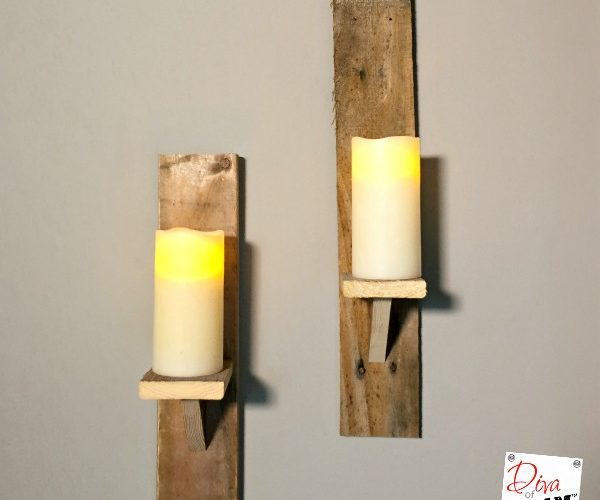 How To Make DIY Candle Holders From Pallet Wood
