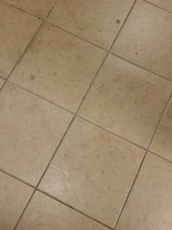 Cleaning tip! How to remove grout stains the easy way! If it will work on my workshop type floor, it will work for you! I'm so excited to find this product!