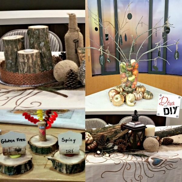 Make these rustic diy thanksgiving table decorations Thanksgiving table decorations homemade