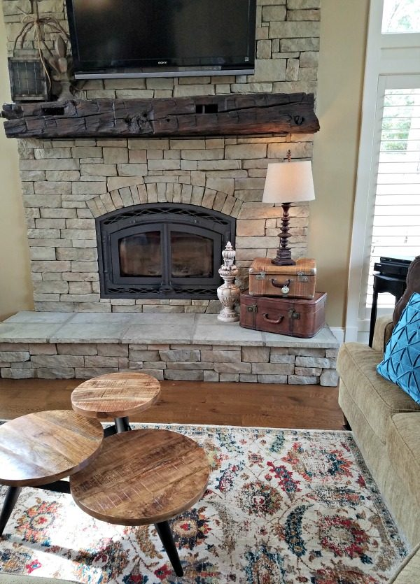 Need to add a punch of color to your decor? See how I transformed my family room with an amazing area rug for inspiration to update my modern rustic decor!