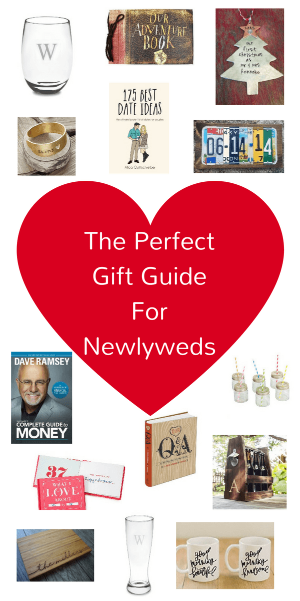 Looking for the perfect gift for newlyweds? What about wedding gift ideas? Here is a gift guide with newlyweds first year ideas! Perfect personalized gifts!